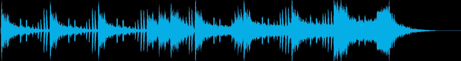 ピアノを弾くテンションビルダーの再生済みの波形