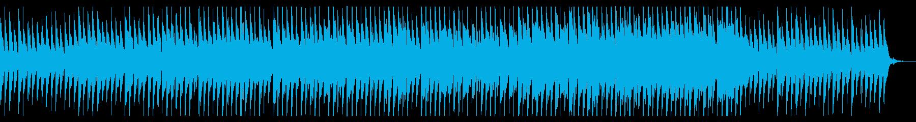 幻想的な雨のシンセサイザー曲の再生済みの波形