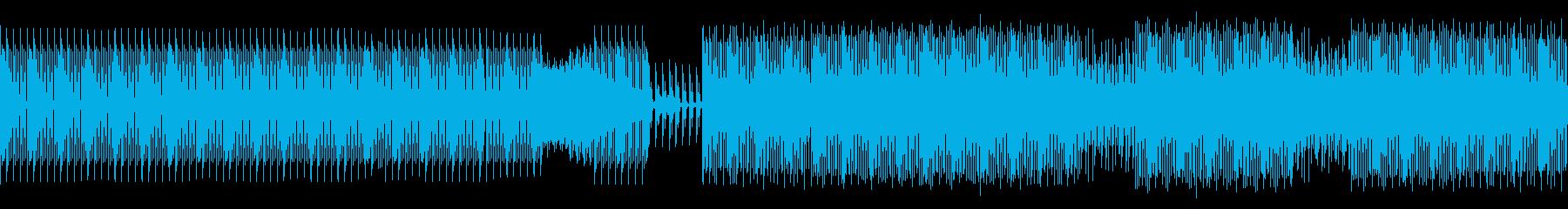 少し暗めなテックハウスの再生済みの波形