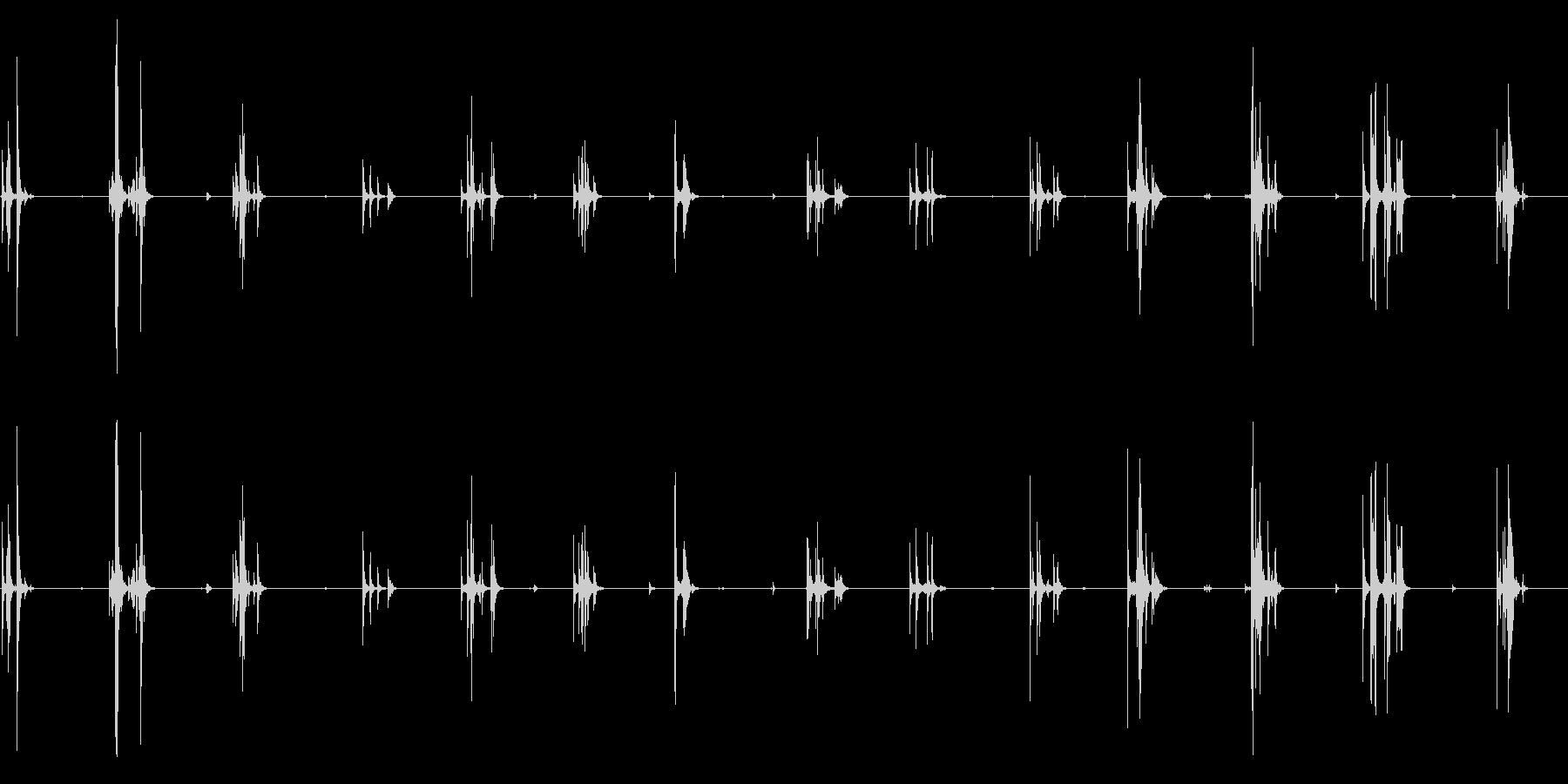 シンク、フォリーのスタックディスクの未再生の波形