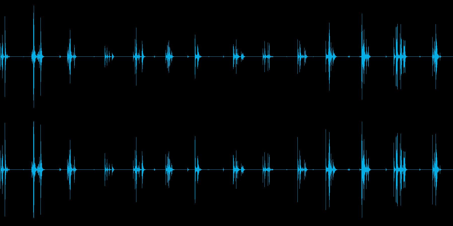 シンク、フォリーのスタックディスクの再生済みの波形