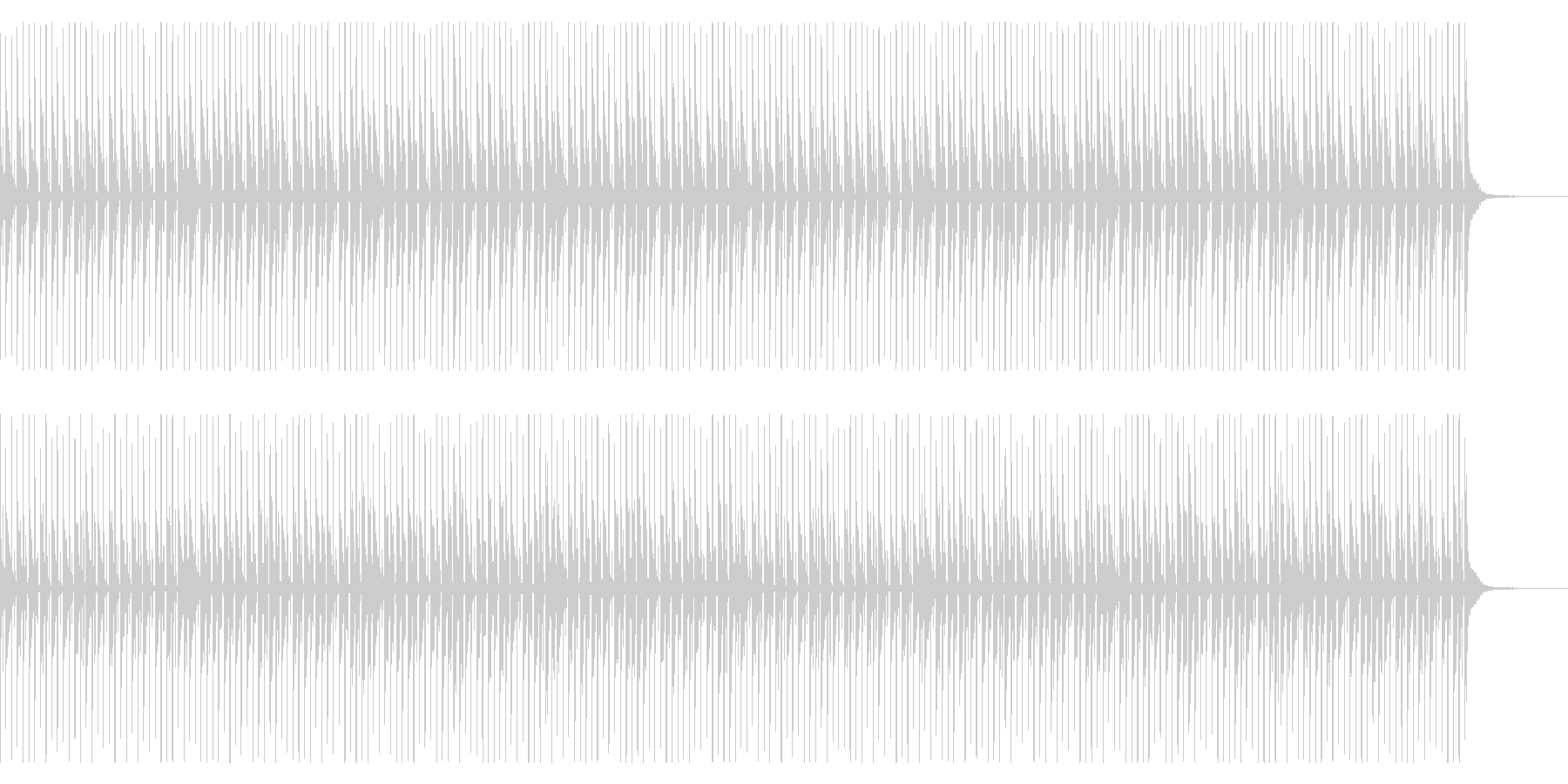 めちゃくちゃシンプルなループミュージックの未再生の波形