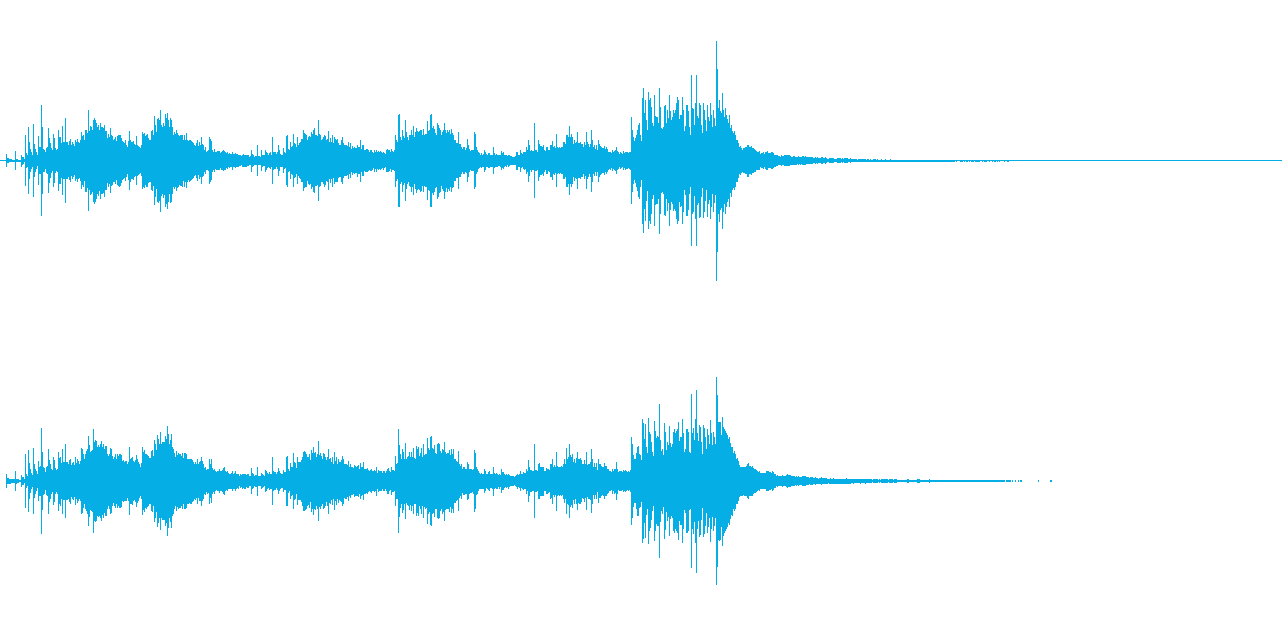スモールメタルベルツリー:グリス、...の再生済みの波形