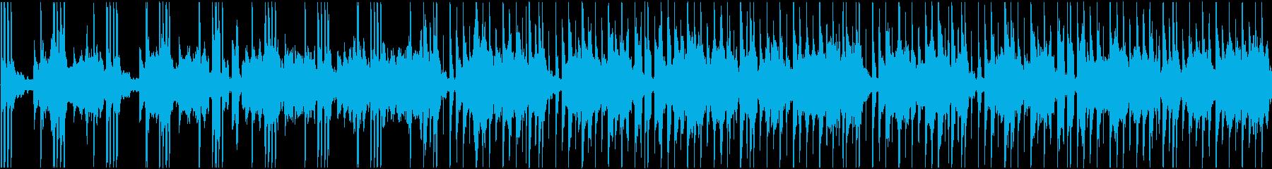 穏やかなテクノですの再生済みの波形