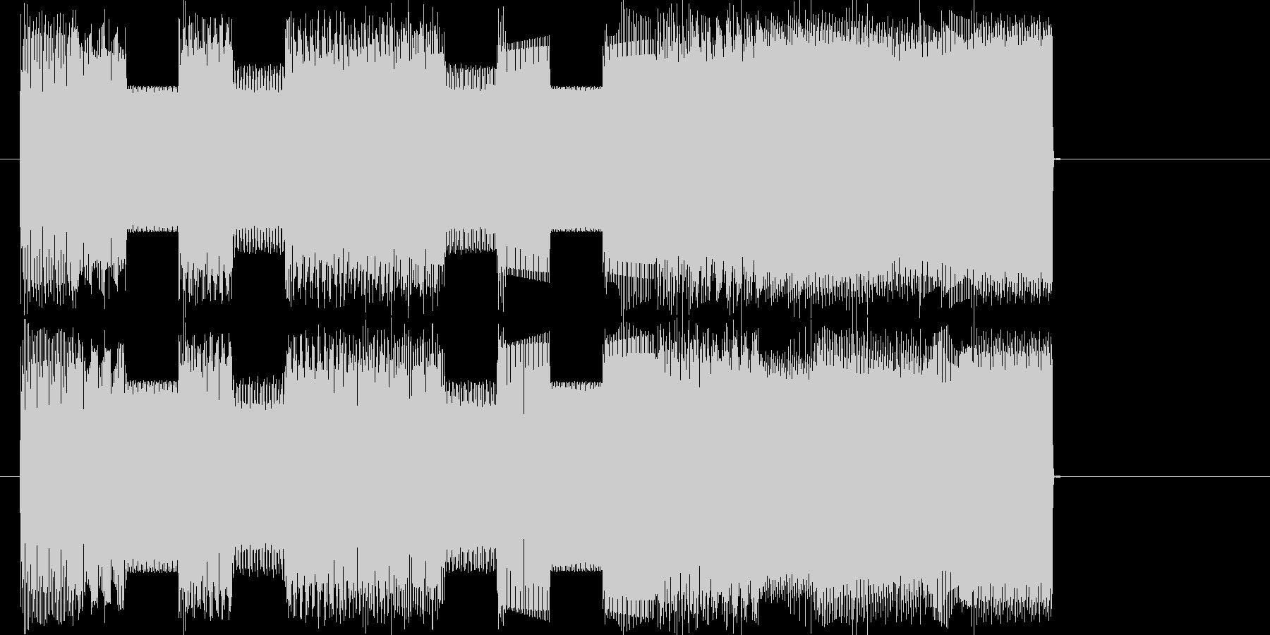 ファミコンピコピコ曲ファンファーレの未再生の波形