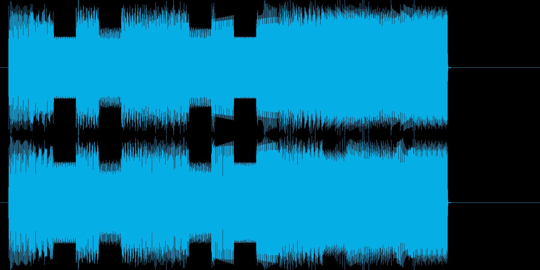ファミコンピコピコ曲ファンファーレの再生済みの波形