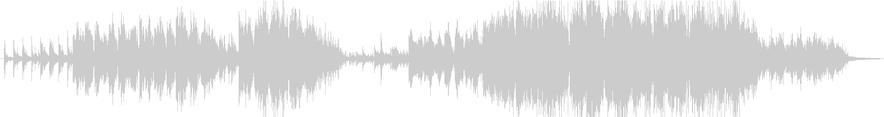 ピアノとサックスだけの静かなバラードの未再生の波形