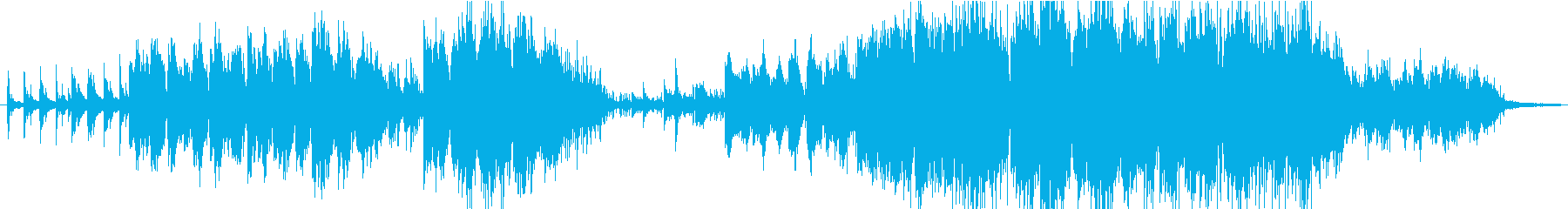 ピアノとサックスだけの静かなバラードの再生済みの波形