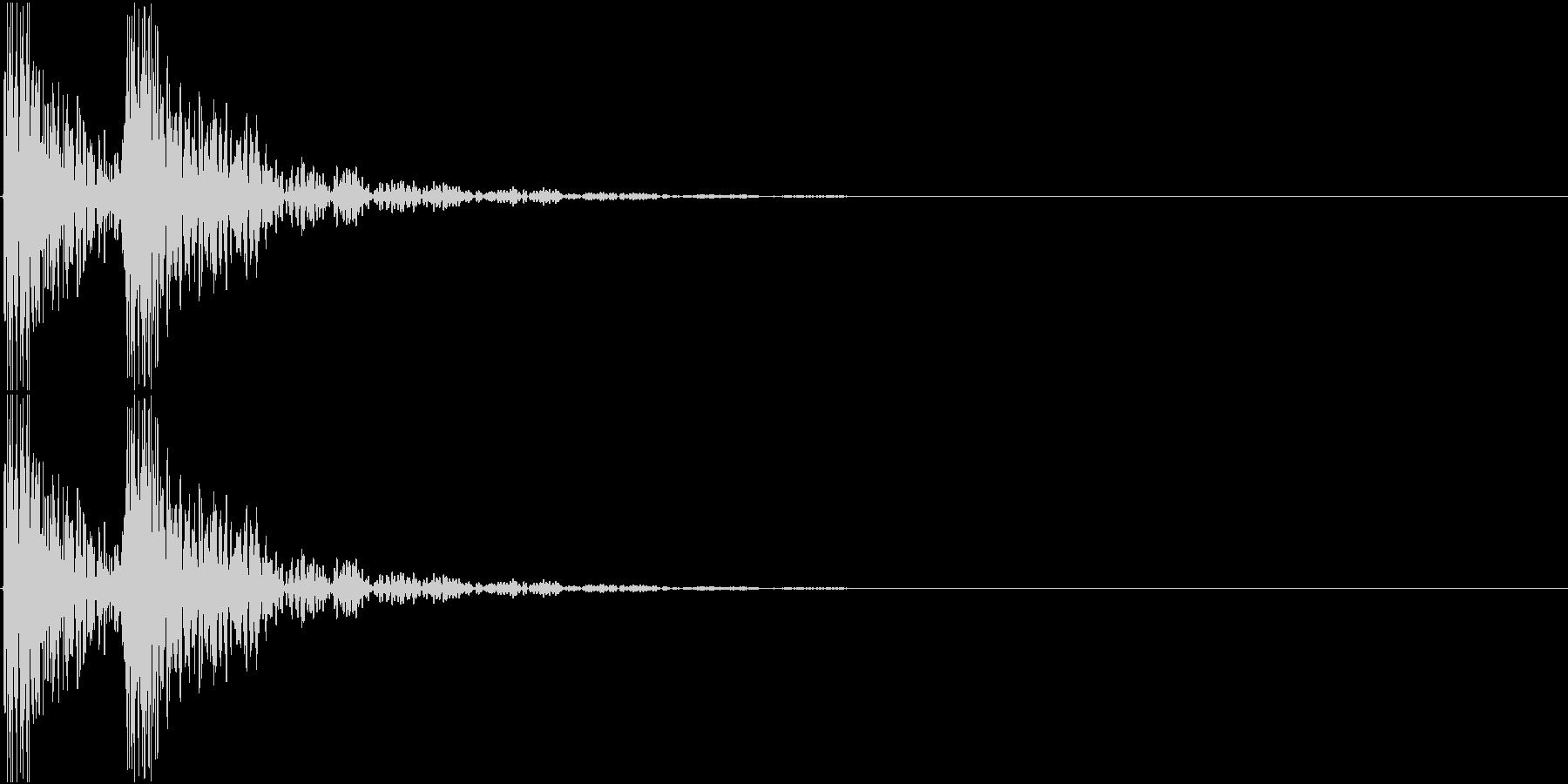 [[ドンドン!]] 和太鼓の音 2発の未再生の波形