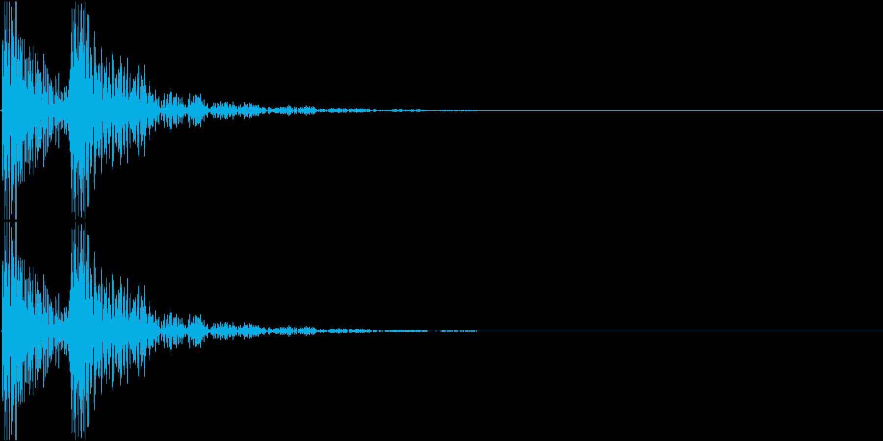 [[ドンドン!]] 和太鼓の音 2発の再生済みの波形