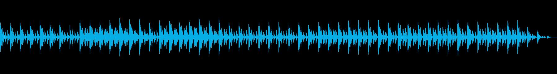 可愛らしい音色と優しい音楽の再生済みの波形