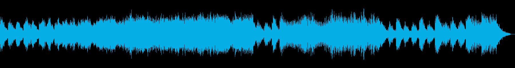 なめらかで綺麗なメロディーの再生済みの波形