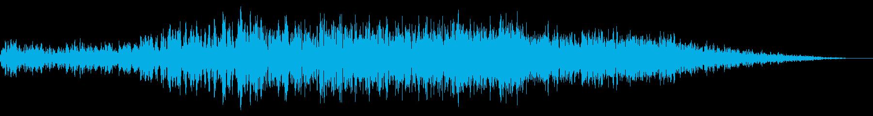 ライジングシンセトレイルを使用した...の再生済みの波形