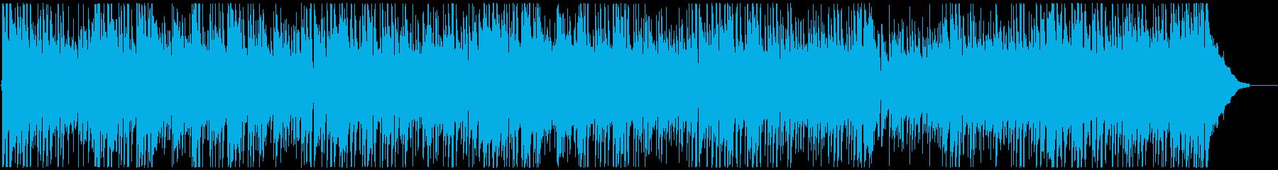 爽やかで跳ねるようなイメージのBGMの再生済みの波形