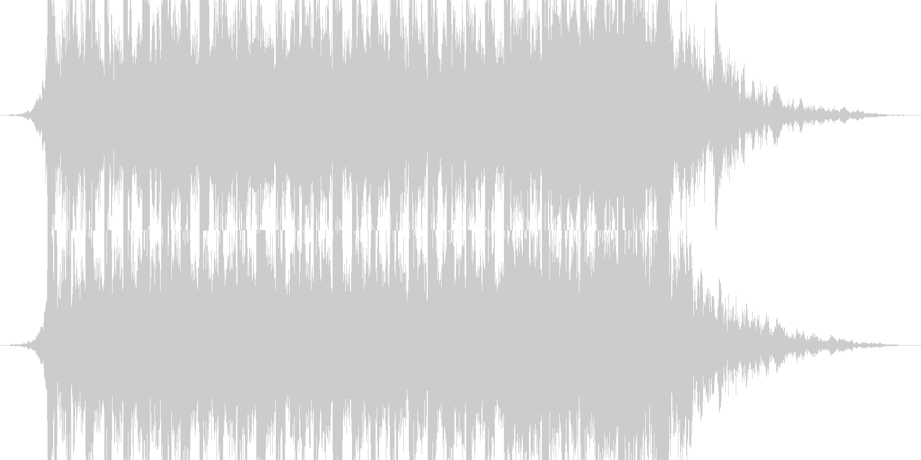 Exciting opening and appearance's unreproduced waveform