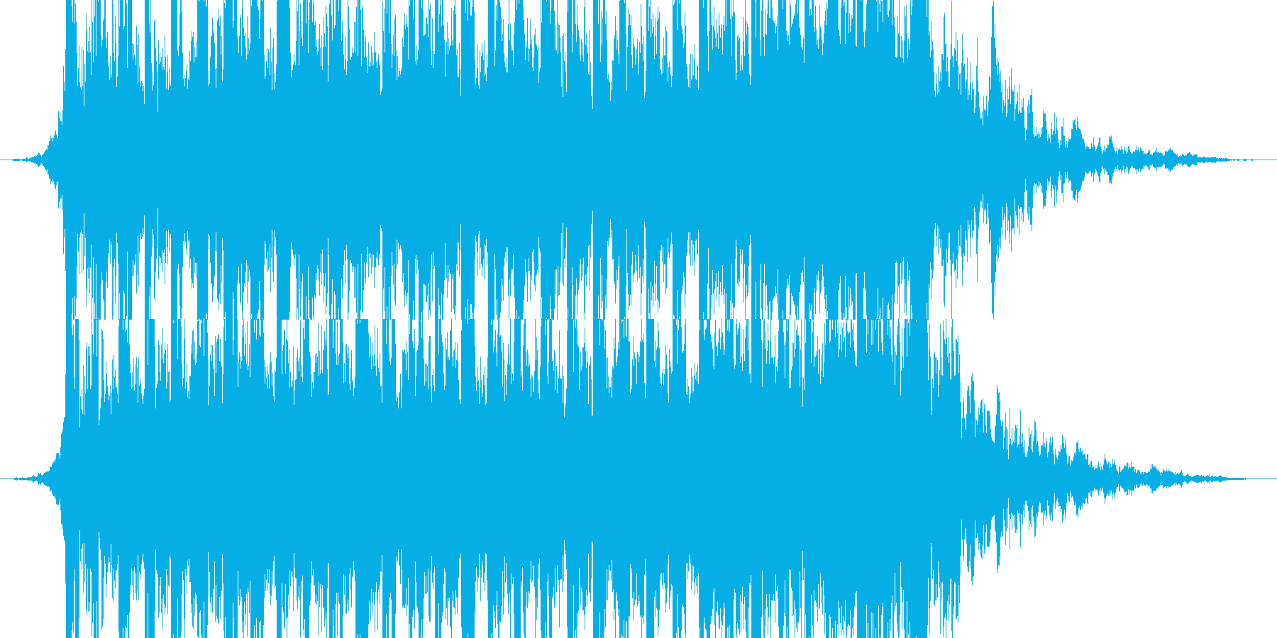 Exciting opening and appearance's reproduced waveform