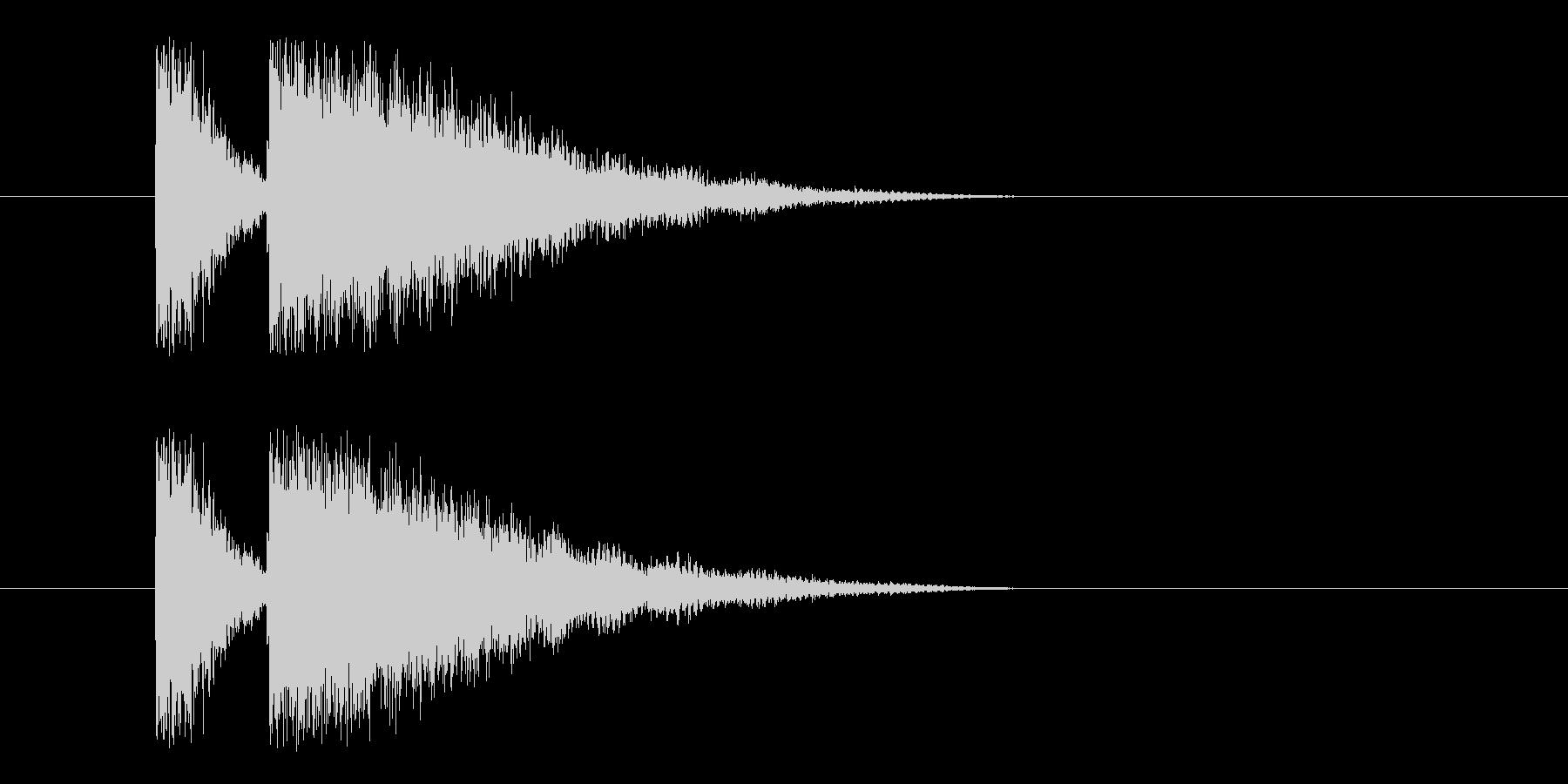 ビームライフル4の未再生の波形