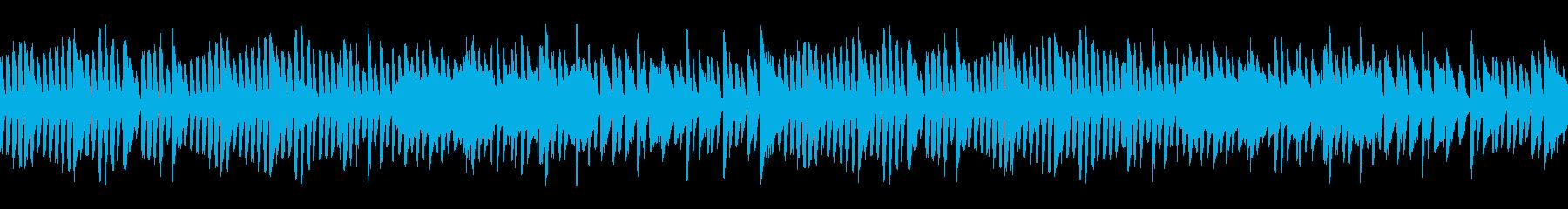 シンプルなピアノ曲【ジングルベル】の再生済みの波形