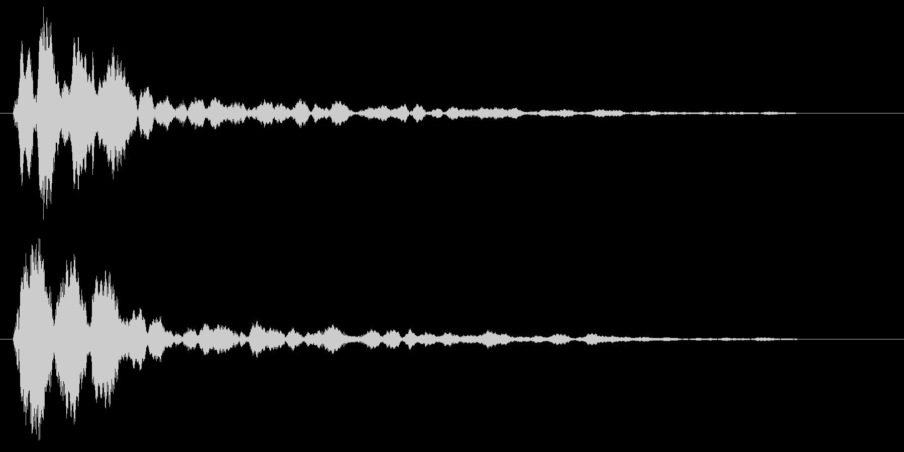 キーン(透明感のある軽い効果音)の未再生の波形