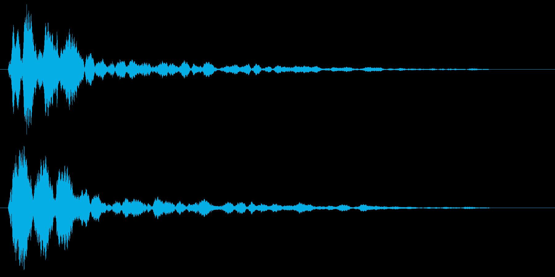 キーン(透明感のある軽い効果音)の再生済みの波形