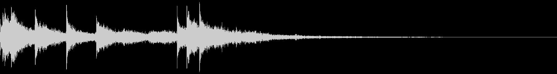 トイピアノの暗いハロウィンのジングルの未再生の波形