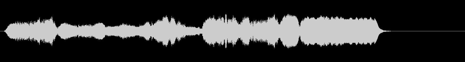 生演奏リコーダーで神聖な音楽の未再生の波形