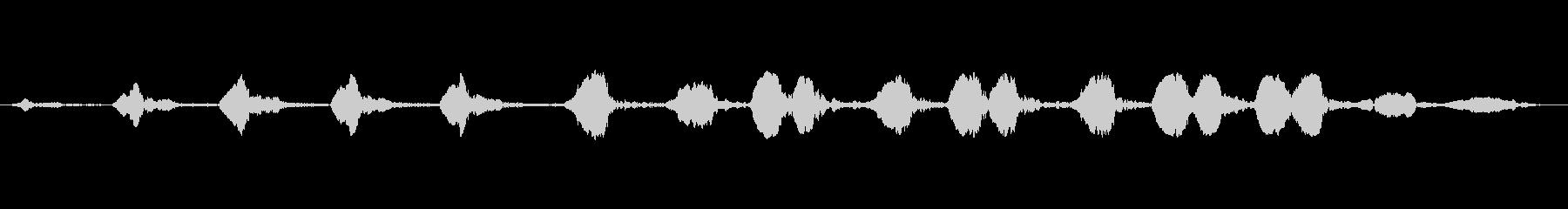 レッドブレストヒタキ:呼び出し、動物の鳥の未再生の波形