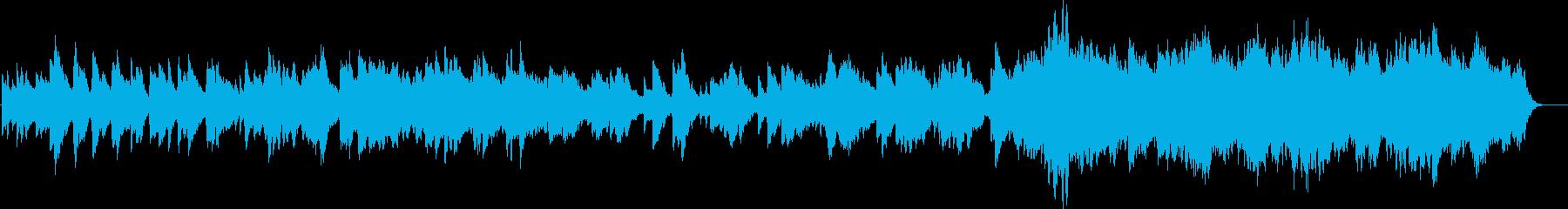 どこまでも爽やかなピアノストリングス楽曲の再生済みの波形