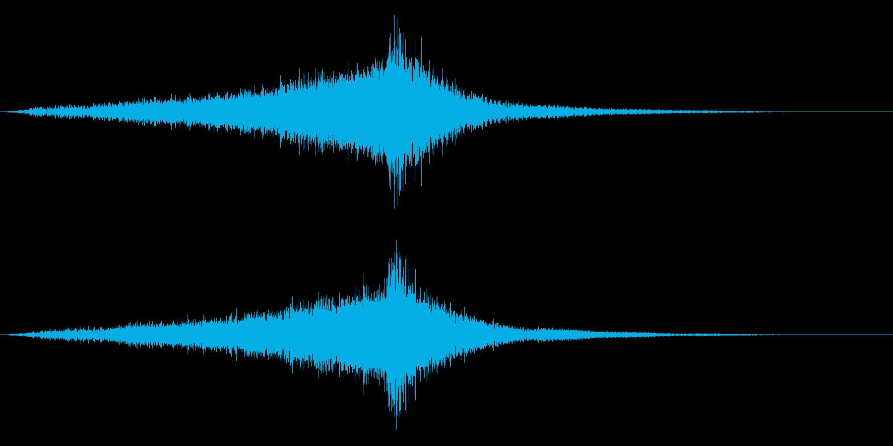 ホラー映画に出てきそうなノイズ系音源20の再生済みの波形