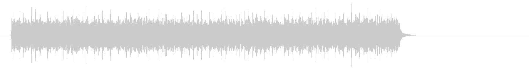 アメリカンロック/ポップ(サビ)の未再生の波形
