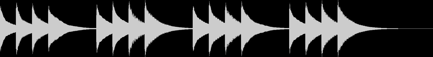 始業のチャイムの未再生の波形