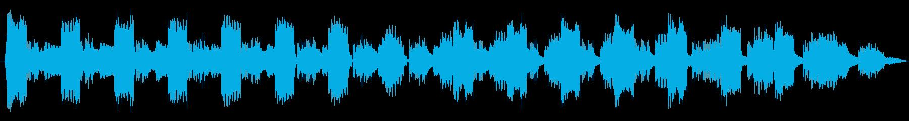 たくさんの電話呼び出し音の再生済みの波形