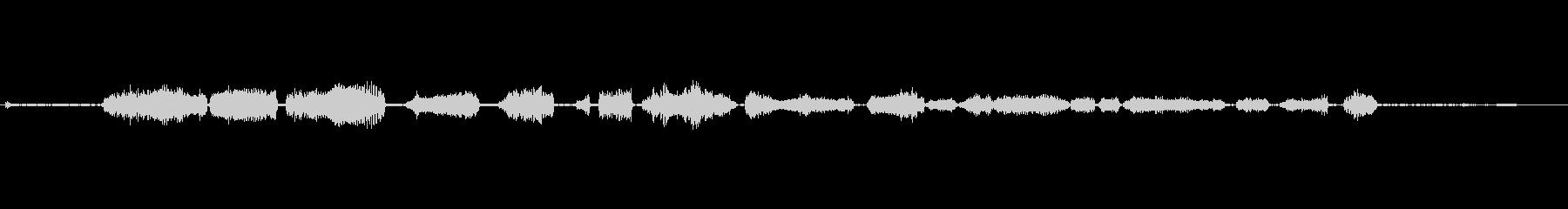 旋盤-木材-On_Off-楽器の未再生の波形