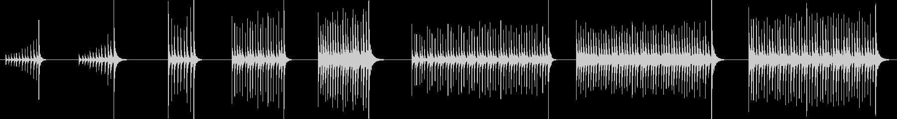 ボンゴ、ドラム、ロール、ランニング...の未再生の波形