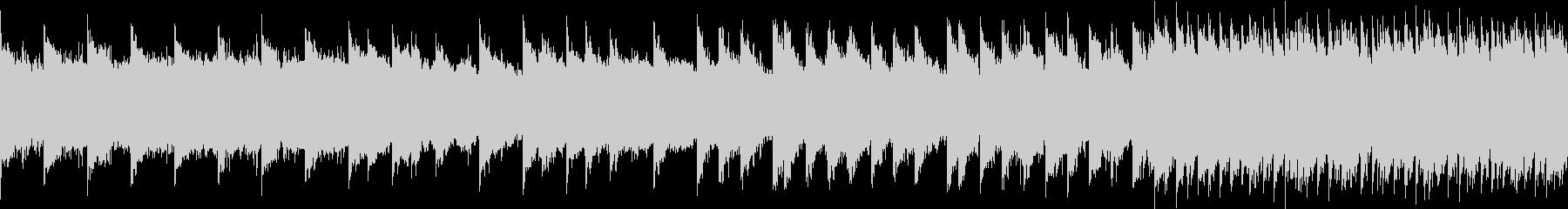 シンセベルとアコギBGM ループの未再生の波形