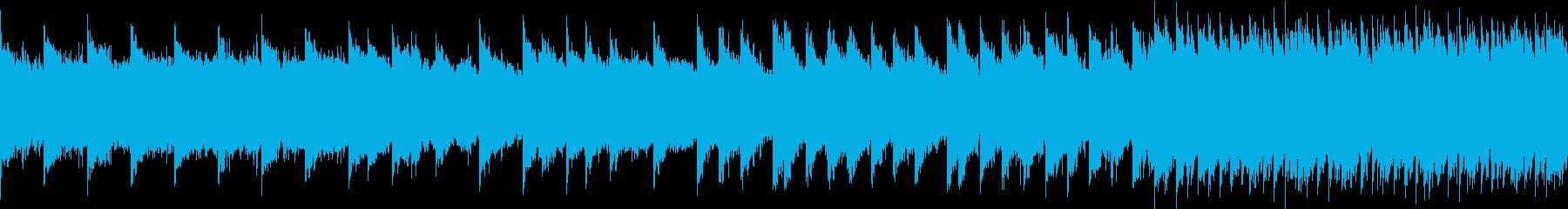シンセベルとアコギBGM ループの再生済みの波形