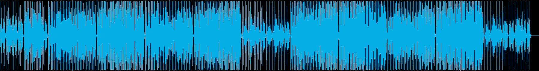 ポップでオシャレ感なダンスミュージックの再生済みの波形