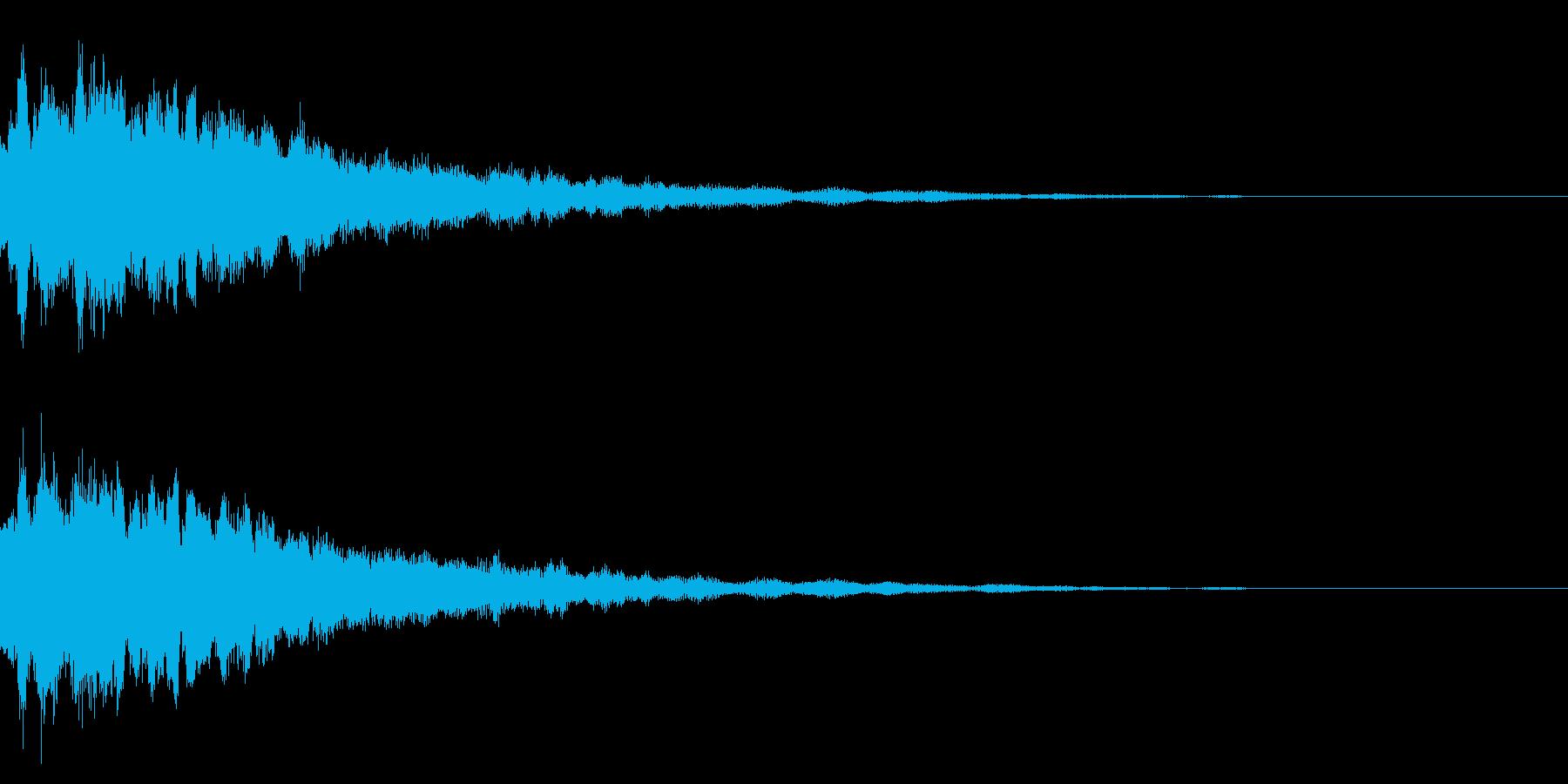 キラーンと光る音の再生済みの波形