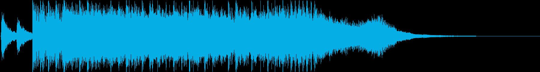 激しいロック調のオープニングジングルの再生済みの波形
