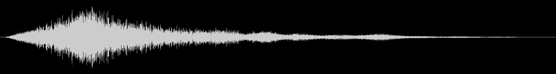緊張 上昇衝撃低弦01の未再生の波形