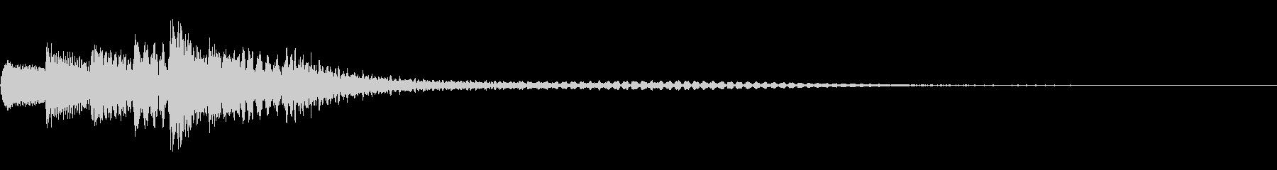 寂しげなピアノサウンドロゴの未再生の波形