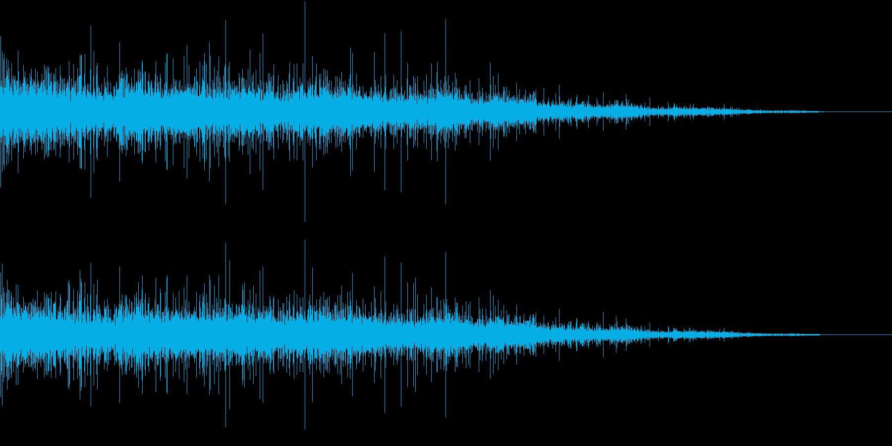【生録音】ジューっと食材が焼ける音 6の再生済みの波形