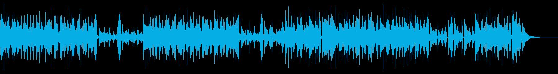 マイナー調のアコースティックギターバンドの再生済みの波形