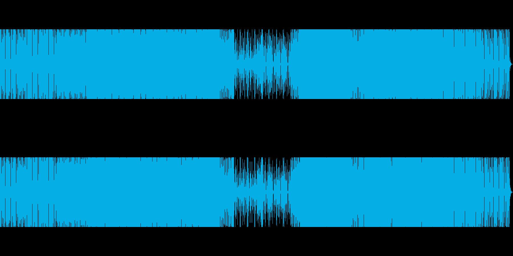 エレクトロ。離調したピアノ。の再生済みの波形