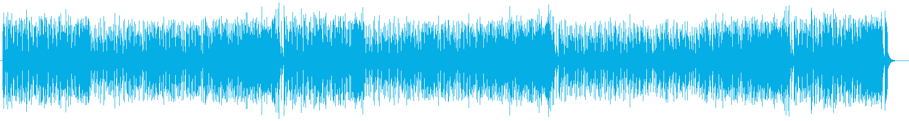 軽やかでファンタジックなシンセサイザー曲の再生済みの波形