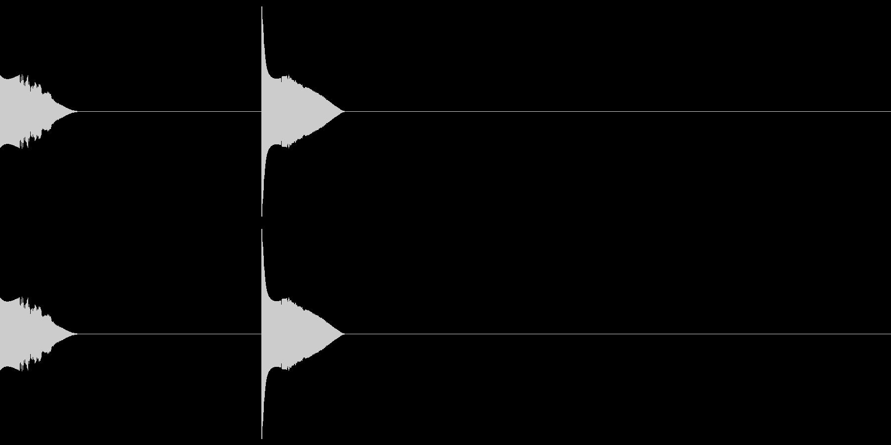 レーザーシャープリングeの未再生の波形