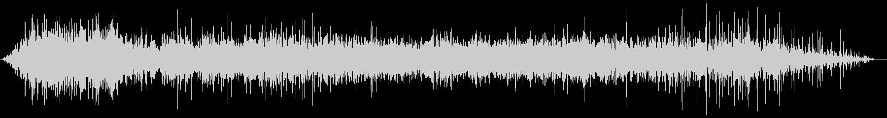 ブオ〜ン(機械音)バシャバシャ(水の音)の未再生の波形
