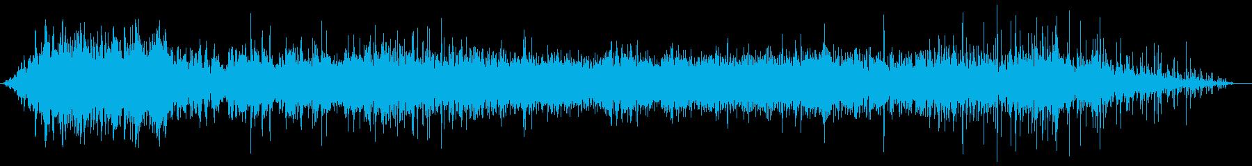 ブオ〜ン(機械音)バシャバシャ(水の音)の再生済みの波形