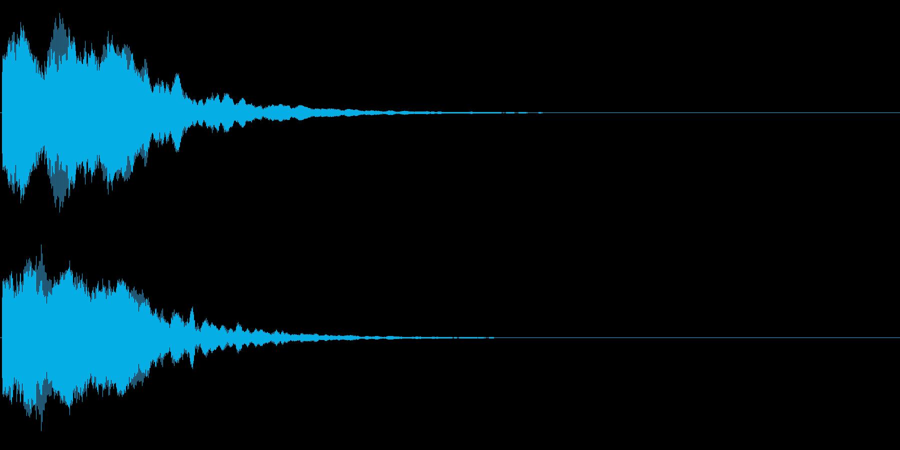 ゲームスタート、決定、ボタン音-168の再生済みの波形