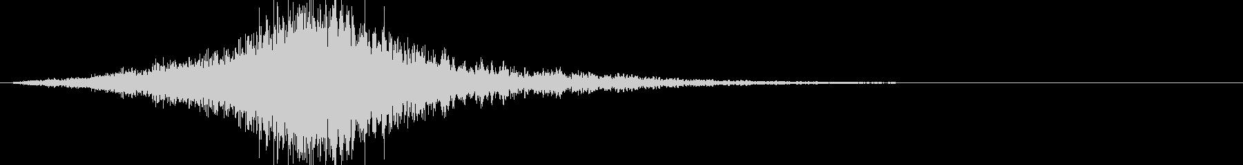 ジャーン:インパクトある怖い音(ホラー)の未再生の波形